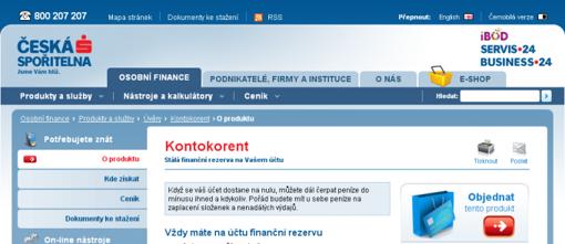 Kontokorent - Česká spořitelna