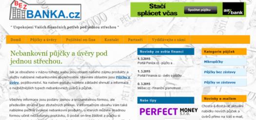 bezbanka.cz - půjčky bez banky