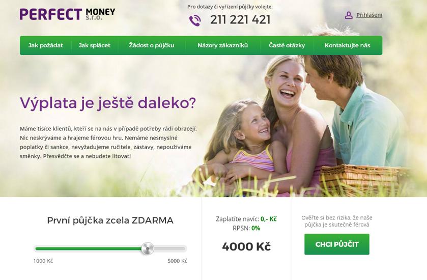Půjčka do výplaty od Perfect Money