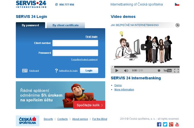 Internetbanking Česká Spořitelna