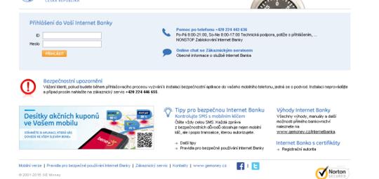 Internetové bankovnictví